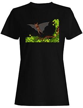 Retro, divertido, alas, regalo, vintage camiseta de las mujeres f901f