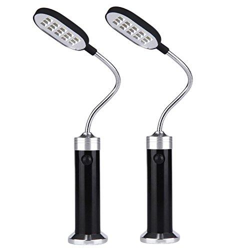Luce del barbecue2pcs magnetica portatile regolabile 360 gradi con lampada LED con 15 LED per barbecue grill alla griglia grill allaperto accessori