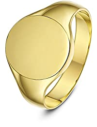 Theia 9 ct Yellow Gold, Oval Shape, Light, Medium or Heavy Weight Signet Ring