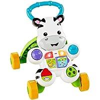 Fisher-Price - Cebra parlanchina primeros pasos - andador bebes - 6 meses - 3 años (Mattel DLD87)