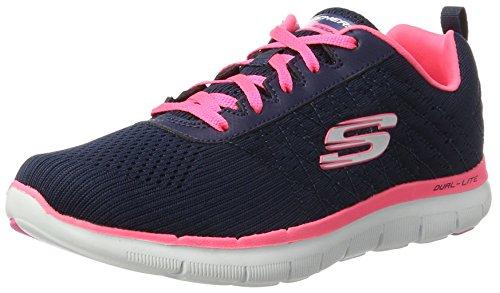 Skechers Flex Appeal 2.0 Break Free - Zapatillas de deporte para mujer, Azul (Blue (Nvhp)), 39