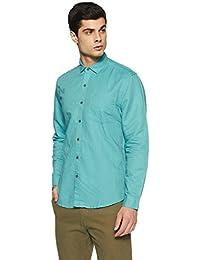 Lee Men's Solid Slim Fit Casual Shirt - B078HYM21J