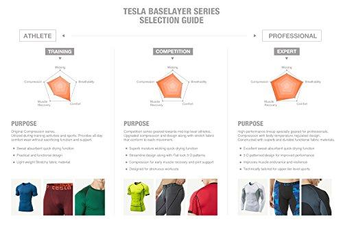 Tesla Maillot léger hyperdri Cool T pour homme Sport Course à Pied Haut à manches courtes Athletic mts03 TM-MUA05-ZDG