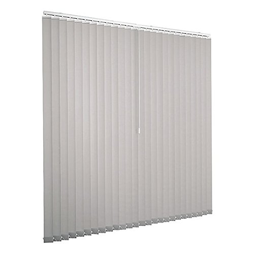 Ventanara Lamellenvorhang grau Vertikaljalousie 89mm inklusive Montagematerial 300 x 250 cm