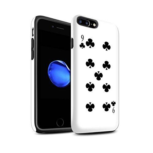 Coque Brillant Robuste Antichoc de STUFF4 / Coque pour Apple iPhone 4/4S / Joker Design / Cartes à Jouer Collection 9 de Trèfles