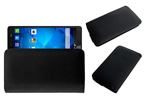 ACM Rich Leather Soft Case for Panasonic P81 Mobile Handpouch Cover Carry Black