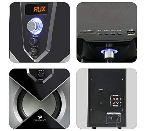 Zebronics SW2491RUCF 2.1 Channel Multi Media Speaker (Black)