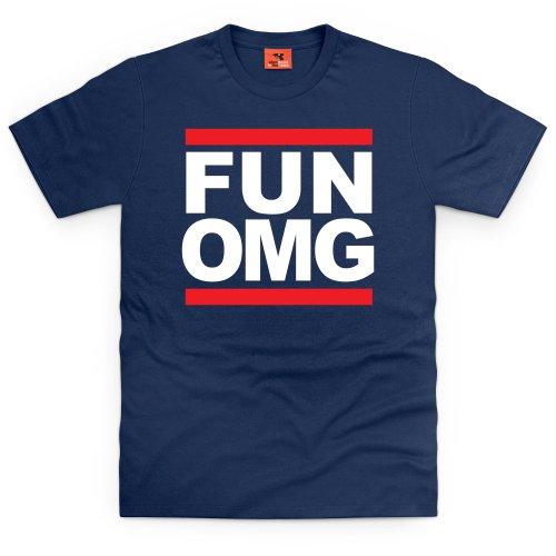 Fun OMG T-Shirt, Herren Dunkelblau