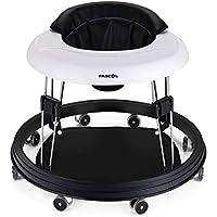 Fascol Andador para Bebés Regulable en Altura 31.1-28.4-25.7-23 cm Andador y Balancín Plegable, Negro