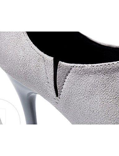 WSS 2016 Chaussures Femme-Décontracté-Noir / Marron / Vert / Gris / Orange / Bordeaux-Gros Talon-Talons-Talons-Laine synthétique green-us6 / eu36 / uk4 / cn36