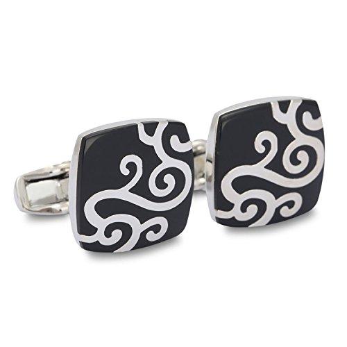 Swirl Symbol Cufflinks for Shirt Renaissance Style Men's Cufflink