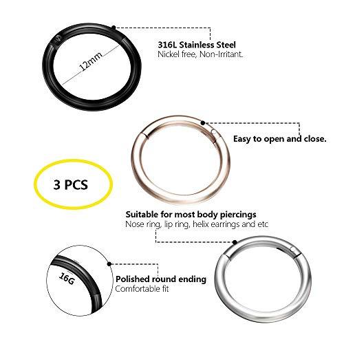 Zoom IMG-3 evbea 3 pz piercing naso