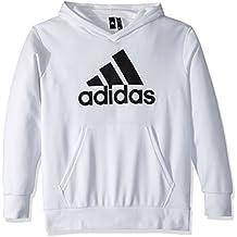 uk availability 4e4b5 6e52b Adidas Atletica Team Issue Bomber Melange, NeroBianco, Uomo, Felpa con  Cappuccio