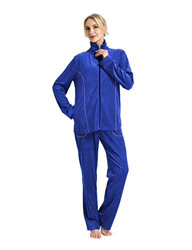 RAIKOU Neu Damen-Hausanzug,Ladies Casual Dress,Active Wear Yoga & Gym Clothes,Nicki,Jogginganzug,Workout,Womes´s Relax Fit,Leisure Suit Royal Blau