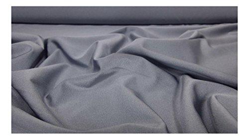 Fabrics-City % GRAU HOCHELASTISCH LYCRA STOFF BADEANZUGSTOFF STOFFE, 3588 (Stoff Bademoden, Sportbekleidung)