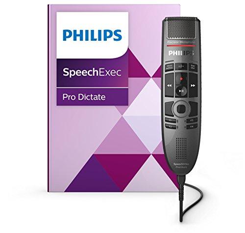 Philips PSE3700 SpeechMike Premium Touch, Diktiermikrofon Diktiergerät inkl. Philips Diktier- und...