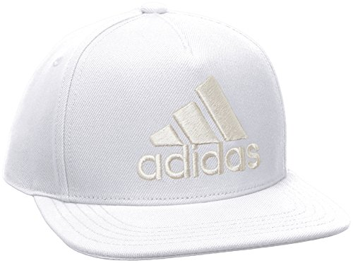 adidas H90 Logo Cap Hat, White/Chalk Pearl s18, OSFY