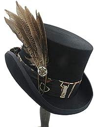 Battercake Gorros Sombrero Tradicional Unisex Hombres Womens Steampunk Gear Hat Hat con Cilindro Acogedor Moda Vintage Gorritas Gorritas Tejidas