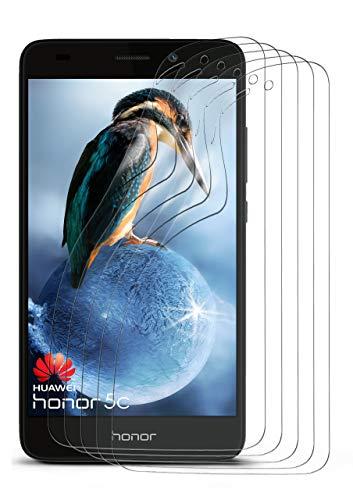 moex 5X Huawei Honor 5C | Schutzfolie Klar Display Schutz [Crystal-Clear] Screen Protector Bildschirm Handy-Folie Dünn Displayschutz-Folie für Honor 5C / Honor 7 Lite/Huawei GT3 Displayfolie (5c Screen Protector)