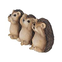 Weird Or Wonderful 3 Wise Three Hedgehogs by Nemesis Now - Set of Three See No Evil Hear No Evil Speak No Evil Ornament Figurine Statue Gift hedge hog hedgehog Alator