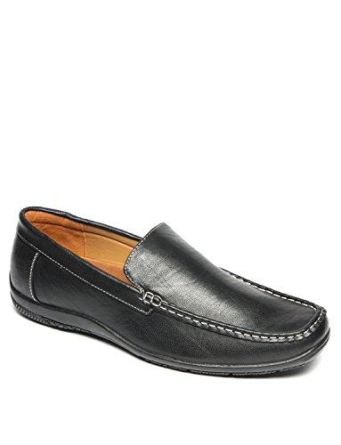 Mens De Conduite Mocassins Conduite À Enfiler Chaussure Noir