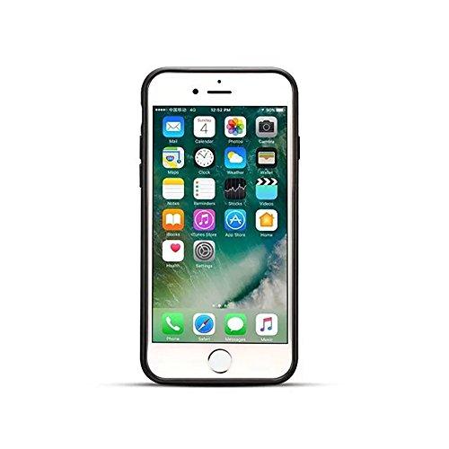 Ultra dünner und leichter Retro mattierter lederner rückseitiger Abdeckungs-Fall für iPhone 7 ( Color : Black ) Brown