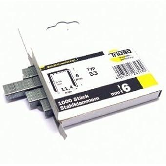 TRIUSO agrafes 6 mm, type 53 00 lot de 10