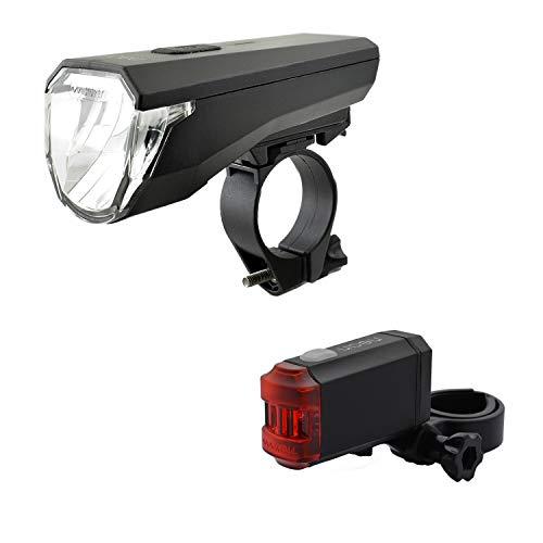 nean Fahrrad Beleuchtungsset mit Akku und StVZO-Zulassung 50 LUX 8 Candela
