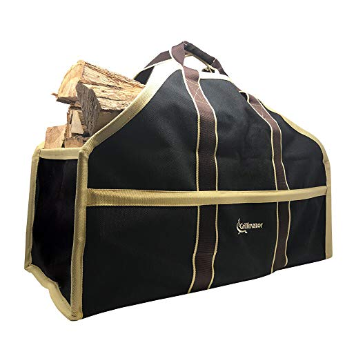 Leña Log Carrier Tote bolsa con la exclusiva grillinator