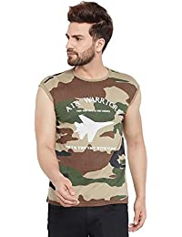 The Dry State Men's Round Neck Printed Camouflage Cotton T-Shirt B184-$P