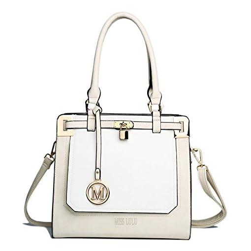 Miss Lulu Women Designer Shoulder Handbag Large Top Handle Tote Hand Bags PU Leather Cross Body Bag Mothers Day Gifts
