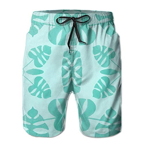 Men's Summer Beachwear Quick Dry Board Shorts Casual Athletic Beach Surfing Shorts for Cheese Blue Fabric (3463) Pattern (XL) -