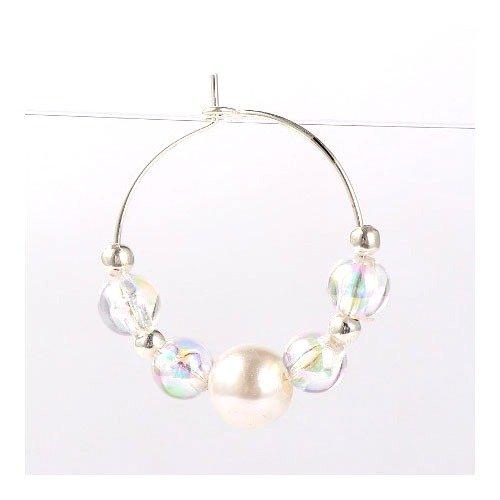 Charming Beads Pacco 30 x Argento Ottone 0.8mm x 25mm Ciondoli Anelli Bicchiere di Vino HA13200