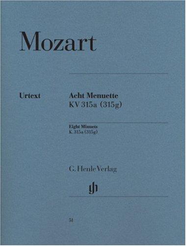 Menuets (8) avec Trios K315g --- Piano