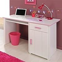 Pharao24 Schreibtisch für Kinder Kinderschreibtisch weiss rosa Lilith preisvergleich bei kinderzimmerdekopreise.eu