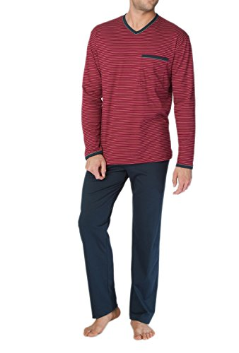 Calida Herren Zweiteiliger Schlafanzug Anthony Pyjama Mars Red