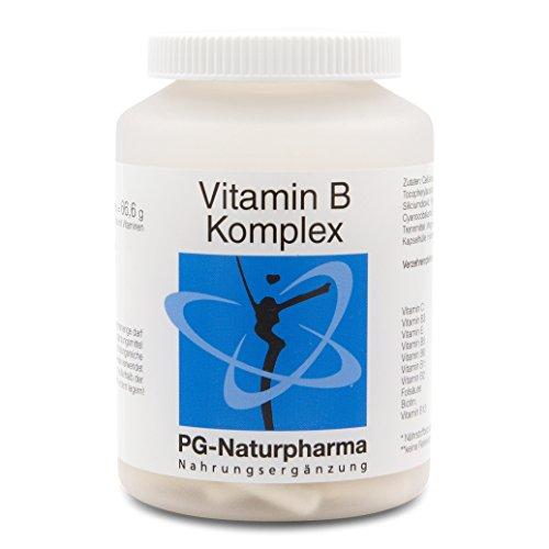 Vitamin B Komplex vegan - 120 vegane & hochdosierte Kapseln mit allen 8 B-Vitaminen - Vitamin B12, Biotin, Folsäure - auch mit Vitamin C & Vitamin E -
