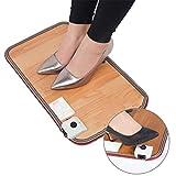 LIGHTOP Heizteppich Thermisches einstellbar Fußmatte Teppich Pad-Schreibtisch Heizmatte Beheizter HeatMaster ON/Off 50x30cm 50W(anthrazit)