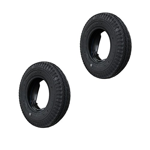 Preisvergleich Produktbild 2 Set Decke Reifen und Schlauch 4.80 / 4.00-8 KENDA Anhängerreifen DDR-HPAnhänger