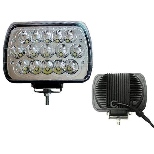Preisvergleich Produktbild LED Arbeitsscheinwerfer, 8 Zoll Refit SUV Motorrad Super Hell Flutlicht Bagger LKW Traktoren Rückfahrscheinwerfer 2PCS (Farbe : Weißes Licht)