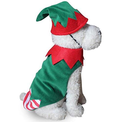 TOOGOO Haustier Weiche Kleidung WeihnachtskostüM Niedliche Cartoon Kleidung für Kleine Hundetuch KostüM Kleid Xmas Apparel für Kitty Dogs - Niedliche Weihnachtskostüm