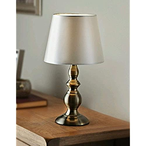 Small table lamps amazon harvard table lamp antique style gold base cream satin effect lampshade aloadofball Gallery