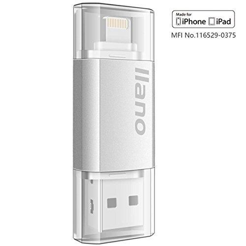 [Apple MFi certificado] 64G USB 3.0 Flash Drive con Ios para iPhone, iPad y mas PC, memoria de almacenamiento, Thumb Drive, huella digital cifrado para la proteccion de la privacidad.