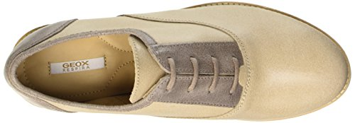 Geox D Promethea B, Scarpe Low-Top Donna Marrone (Smoke Grey/Skin)