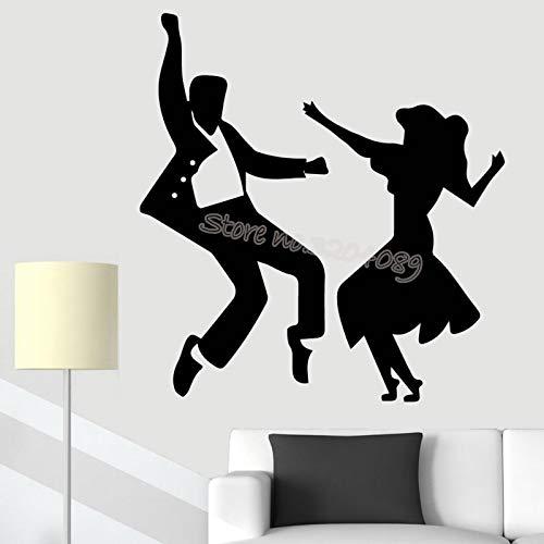 zqyjhkou Paar Wandaufkleber Latin Tänzer Tanzen Silhouette Wandtattoo Home Wohnzimmer Mode Dekor Poster Kunstwand Eb261 84x84 cm