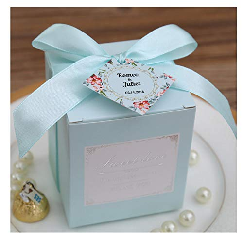 Gift Pink Tiffany Blue Birthday Wedding Favor Candy Boxes Bridal Shower Party Paper Box C
