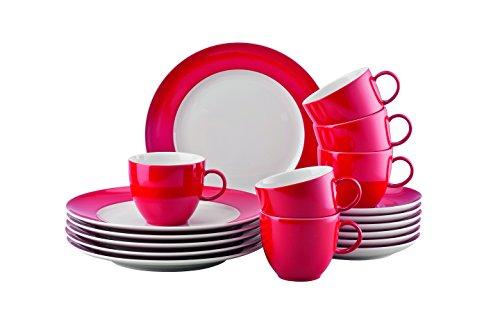 Thomas 10850-408525-28352 Sunny Day New Red Kaffeeset 18-teilig Kaffeeset, Porzellan, New Red,...