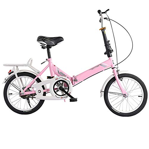 41HFQO70VCL. SS500  - SYCHONG Folding Bicycle 16 Inch Male And Female for Adults Ultralight Children Portable Small Road Bike,B