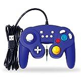 EXLENE Wired Controller Gamepad für Nintendo Switch mit Audio Funktion (3m/10ft), Kompatibel mit PC/PS3, GameCube Stil, Motion controls, Rumble, Turbo (Blau)
