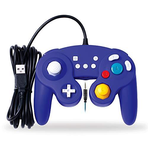 EXLENE Wired Controller Gamepad für Nintendo Switch mit Audio Funktion (3m/10ft), Kompatibel mit PC/PS3, GameCube Stil, Motion controls, Rumble, Turbo (Blau) (Ps3 Control Motion Mit)
